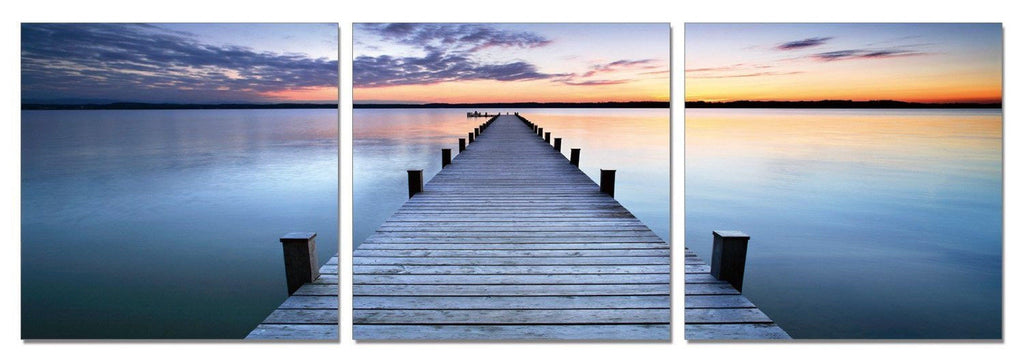 Stunning Ocean Sunset Dock Canvas Print
