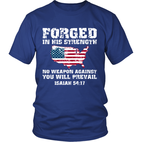 No Weapon Formed Against You American Flag T-Shirt