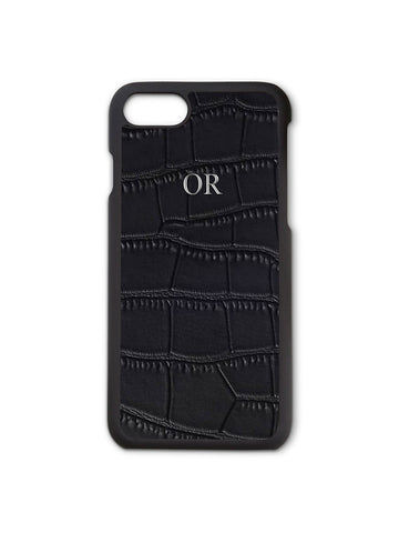 Black Croc Phone Case