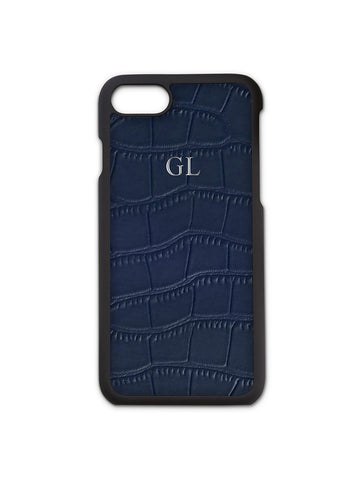 Navy Croc Phone Case