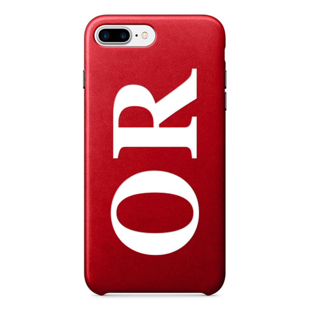 Red PU Leather Printed Case