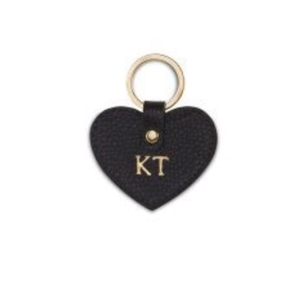 Saffiano Heart Keyring - Mini
