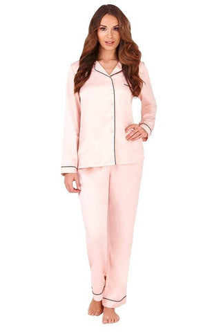 Pink Satin Style Pyjama Trouser Set