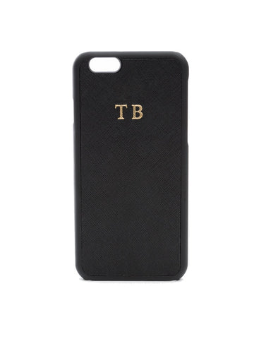 Black Saffiano Phone Case
