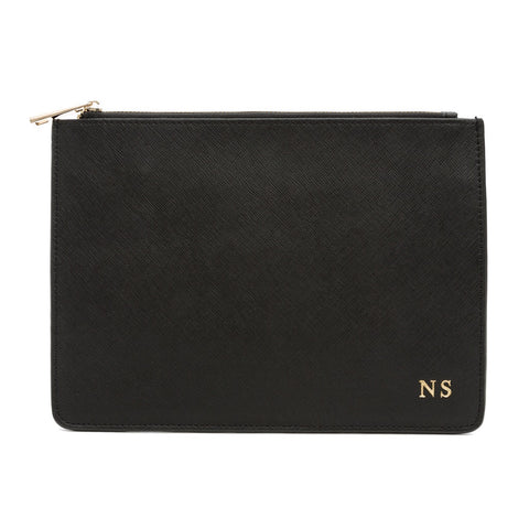 Black Saffiano Clutch Bag