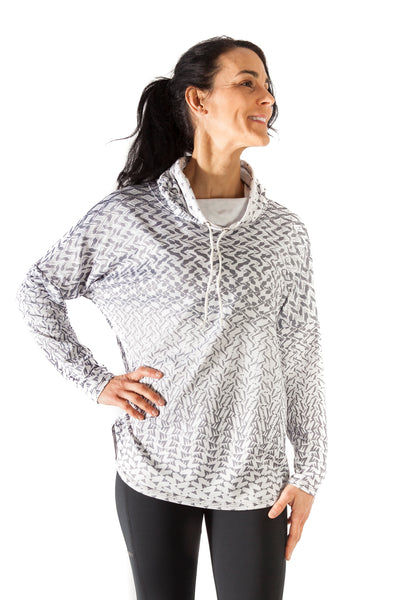 Joyful Cowl Neck Sweatshirt - Chaos Grey - $98.00