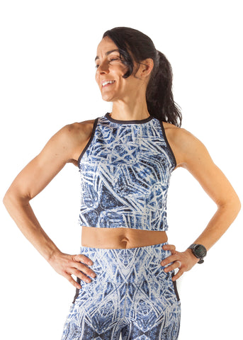 Endurance Crop Top - Ice Crystals - $68.00