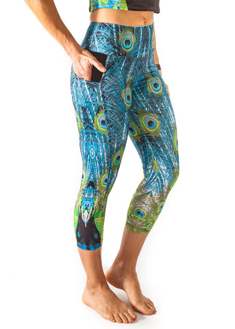 Harmony Pocket Capri - Peacock  $96.00