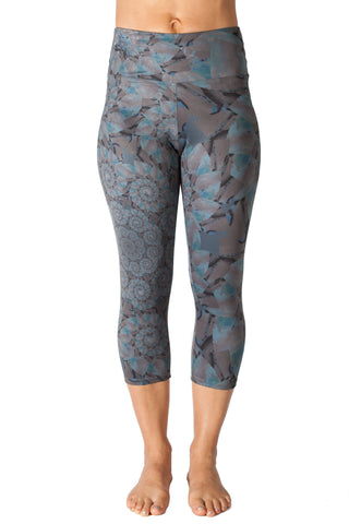 Capri Legging   Sunrise Fractal - Black