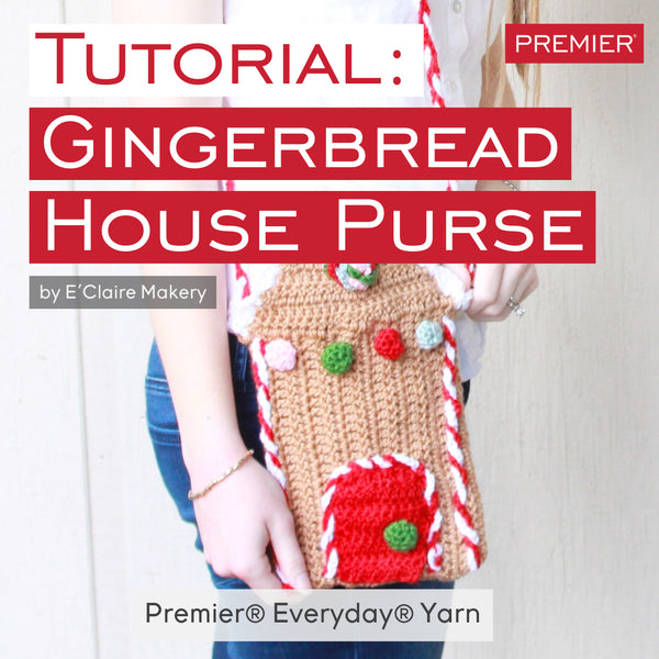 Gingerbread House Purse: FREE Crochet Pattern
