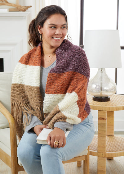 Colorblock Blanket Wrap