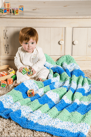 Wave Crochet Blanket