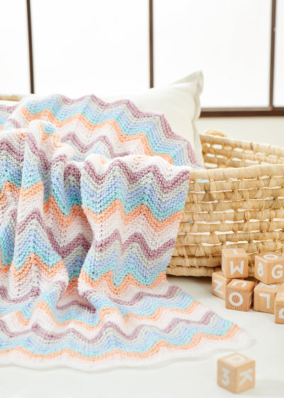 Knit Chevrons Baby Blanket