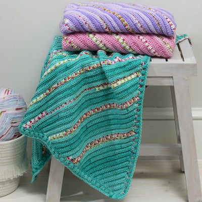 Diagonal Crochet Blanket