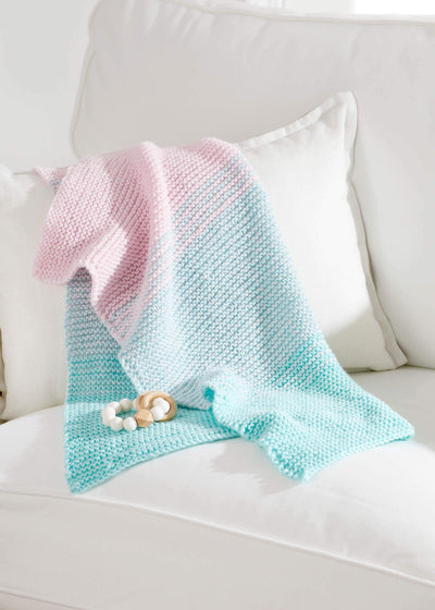 Striped Stroller Blanket