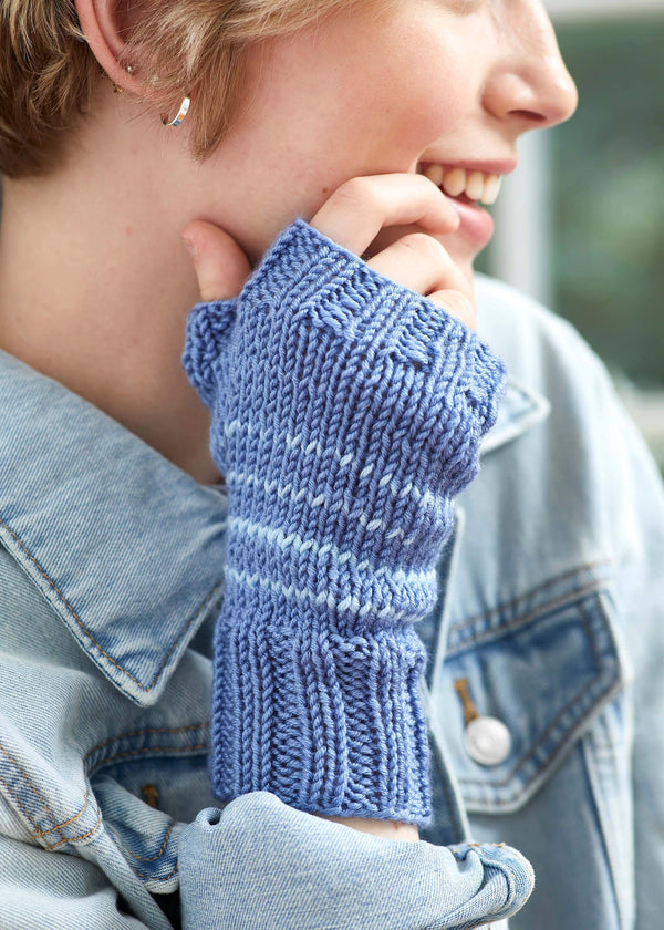Tiny Stripes Cowl and Mitts