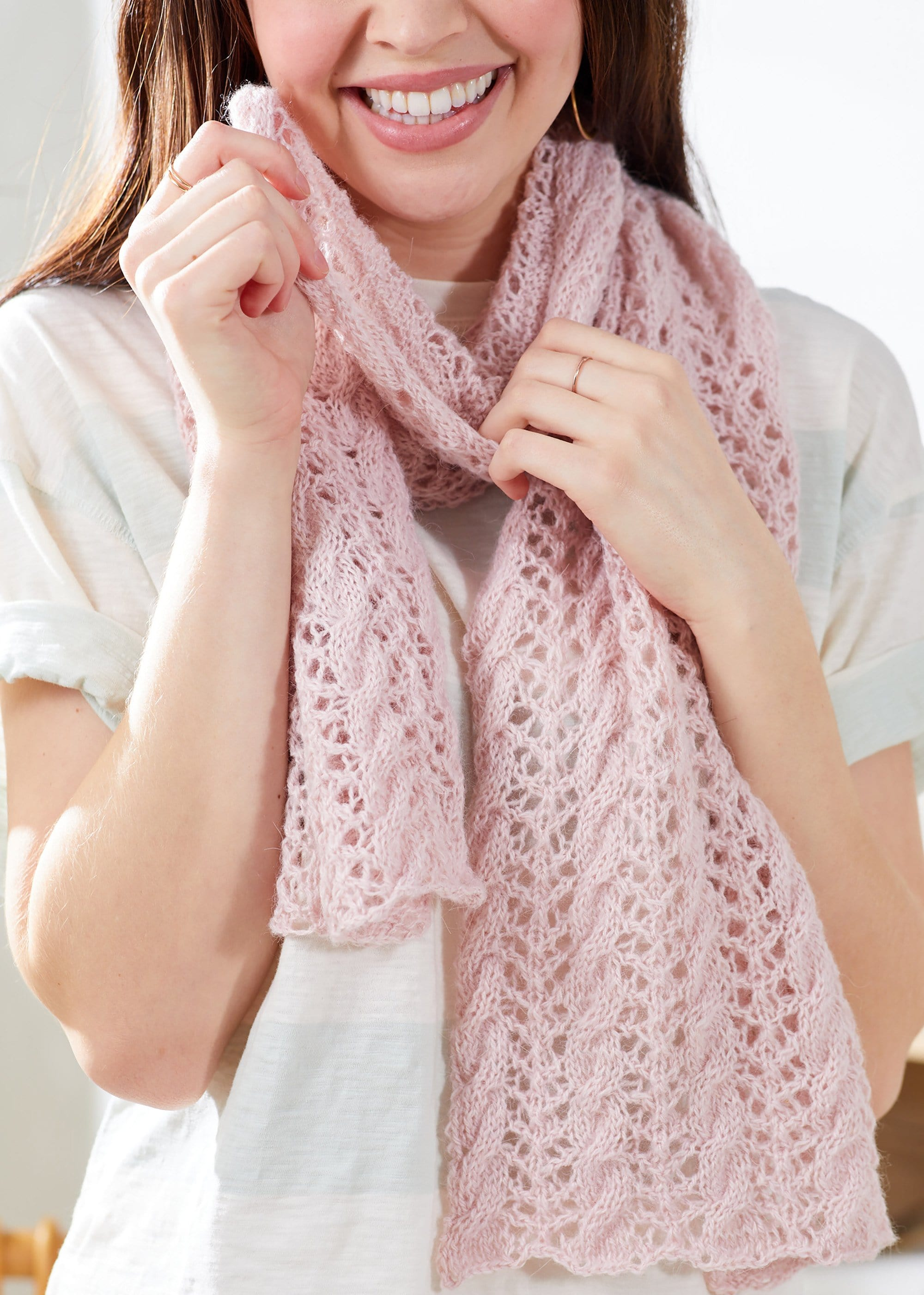 Lacy Cable Scarf