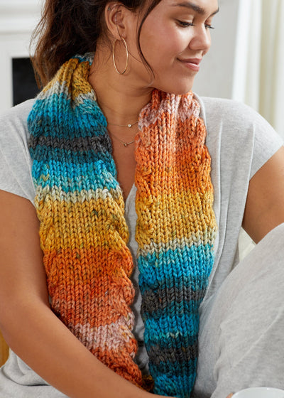 Cabled Colors Cowl
