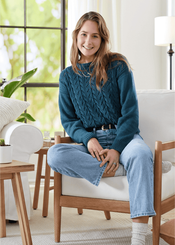 Cotton Sprout Horse Shoe Lace Sweater