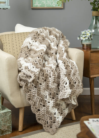 Textured Wave Throw