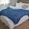 Arm Knit Garter Stitch Blanket