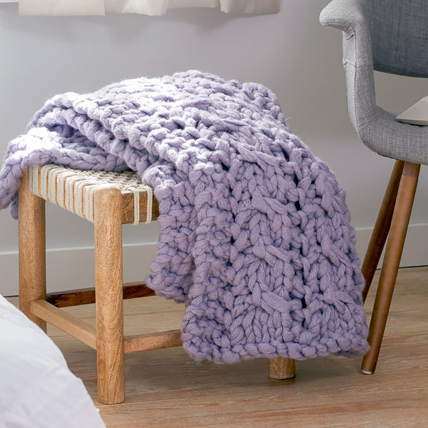 Cable and Lace Blanket