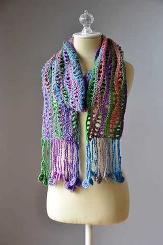 Free patterns premier yarns crochet coin scarf dt1010fo