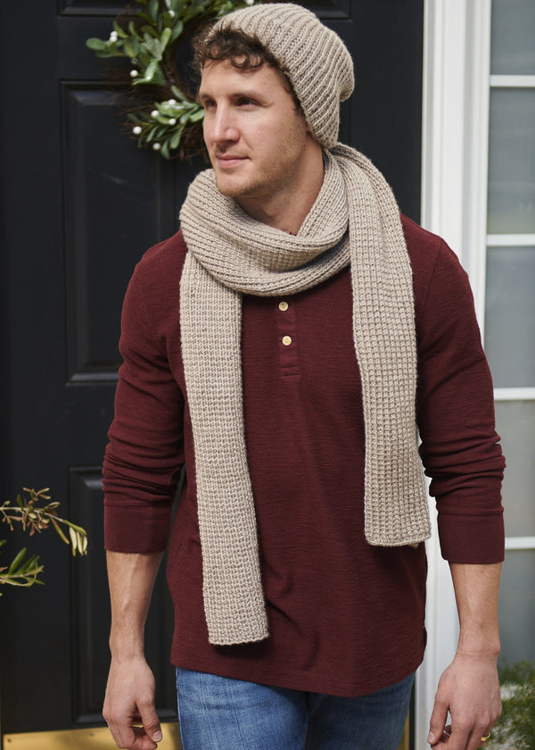 Easy Ribbed Beanie and Scarf Set