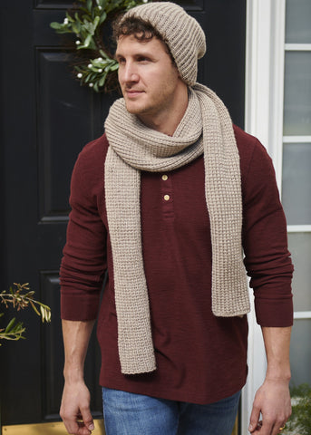 Raspberry Fisherman's Rib Cowl