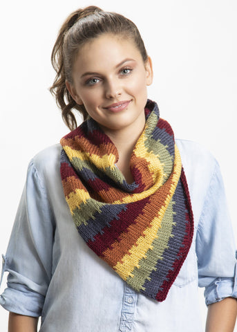 Rainbow Stripe Cowl