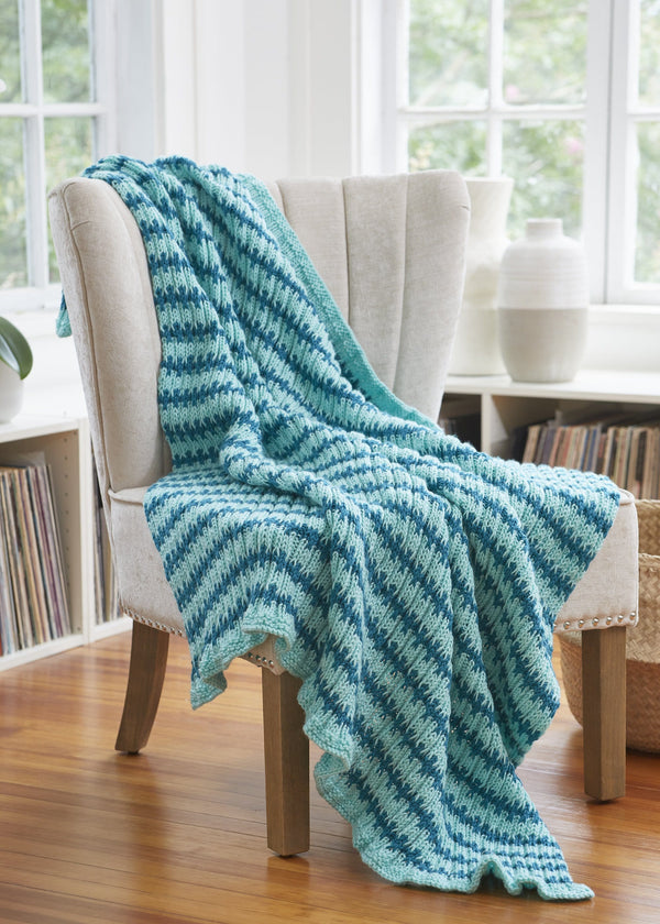 Striped Rib Throw