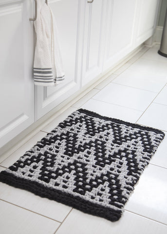 Chevron Mitered Square Blanket