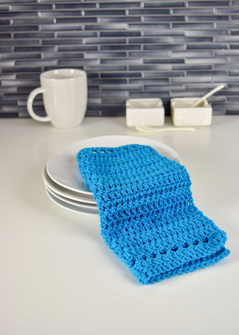 Banded Crochet Washcloth