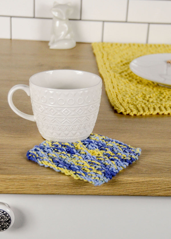 Double Moss Stitch Coaster