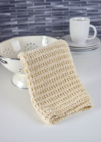 Bars & Rib Knit Washcloth