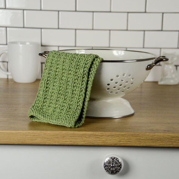 Garter Rib Knit Washcloth