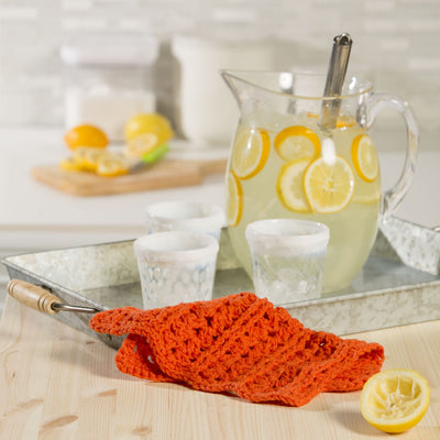 Orange Slice Dishcloth