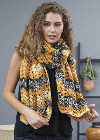 Premier® Tweed Crochet Scarf Free Download