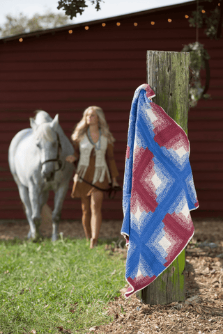 Garter Rib Knit Towel