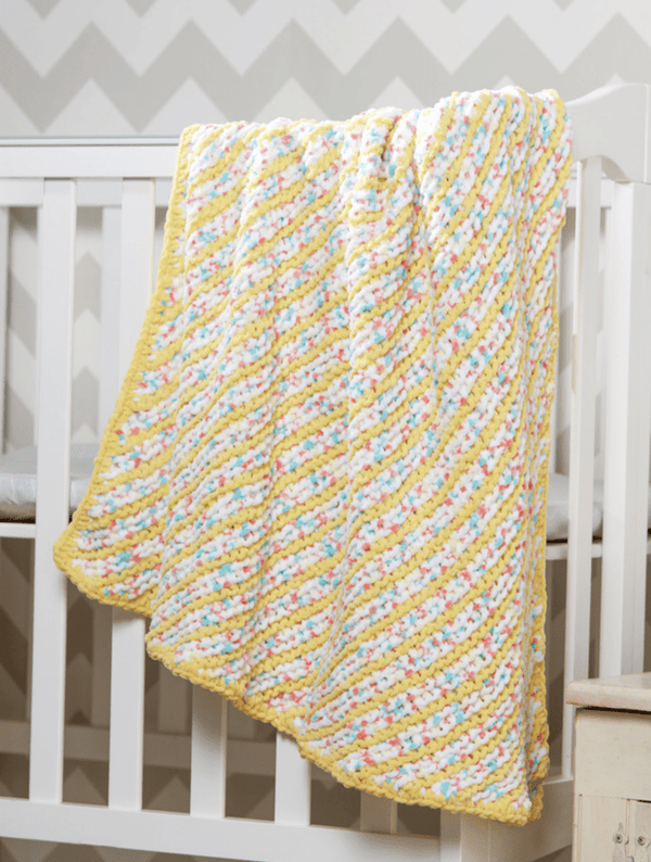 Premier® Diagonal Stripes Baby Blanket
