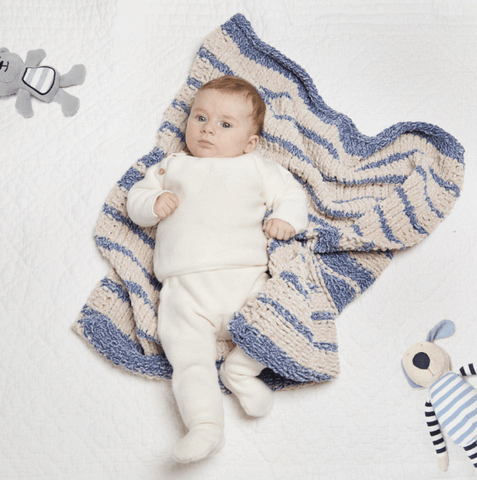 Isaac Mizrahi® Craft™ Knit Striped Baby Blanket