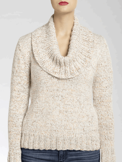 Isaac Mizrahi® Craft™ University Cowl Knit Pullover