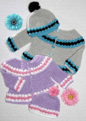 Premier Everyday® Baby Crochet Cardigan and Cap Set