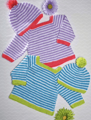 Premier® Everyday® Baby Striped Pullover and Hat Set