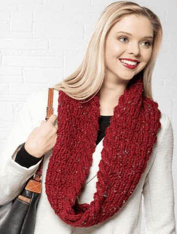 Premier® Cabled Tweed Cowl