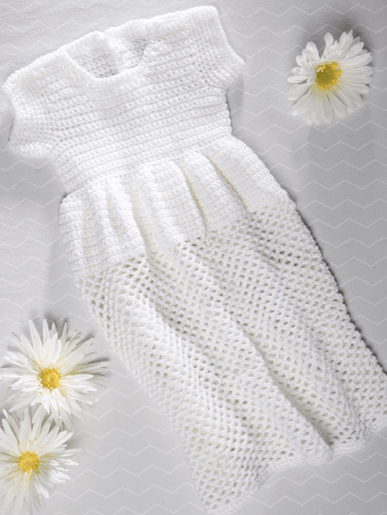 Premier Everyday Baby Crochet Christening Gown Premier Yarns