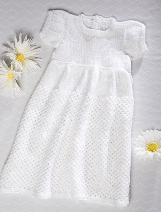 Premier Everyday Baby Knit Christening Gown Premier Yarns