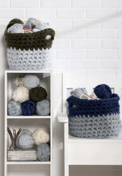 Premier® Colorblock Olive & Navy Baskets