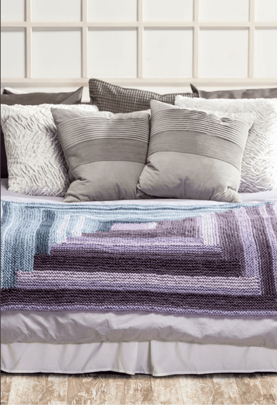 Ombre Log Cabin Blanket