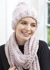 Tweed Garter Rib Hat and Scarf